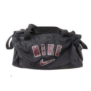 Vintage 90s Nike Big Swoosh Logo Duffle Bag Gym Bag Black Carry On